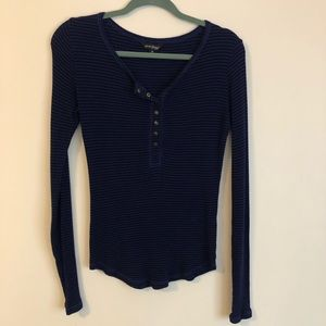 Lucky Brand Striped Thermal Long sleeve top